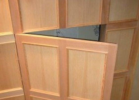 Secret Door in Wood Panel | StashVault