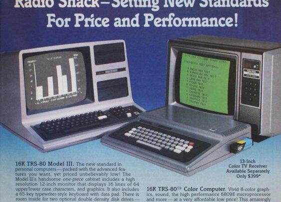 Radio Shack advertises the Color Computer vs. the Model III