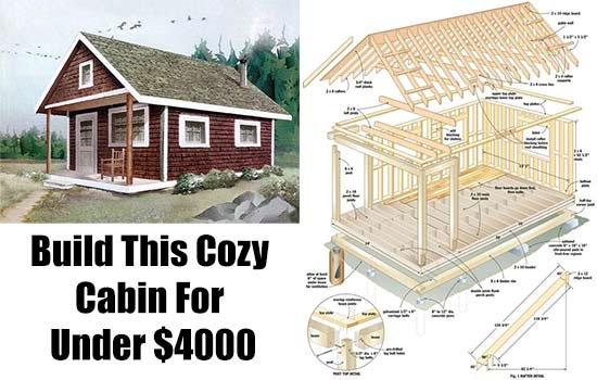 Build This Cozy Cabin For Under $4000 - SHTF, Emergency Preparedness, Survival Prepping, Homesteading