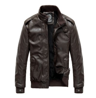Mens PU Leather Jacket with Inner Fur Lining