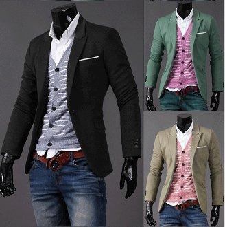 Mens Causal Blazer with One Pocket