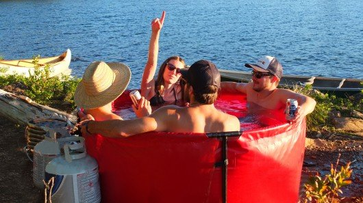 Nomad collapsible hot tub makes camping more interesting