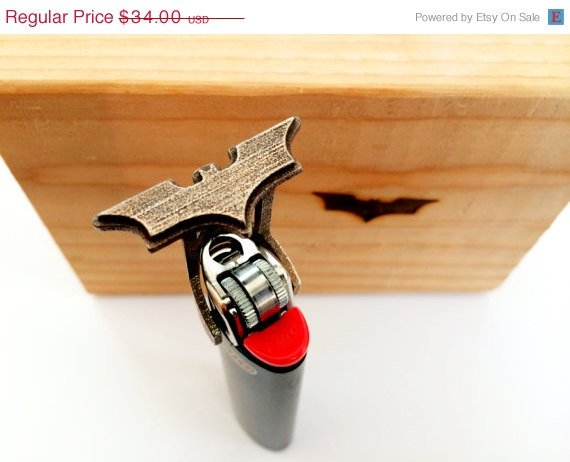 Batman Branding Iron  Unique Geek gamer gift by niquegeek on Etsy
