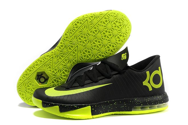 Kevin Durant KD VI (ID) With Features Black Electric Yellow Volt Nike e03b3998da