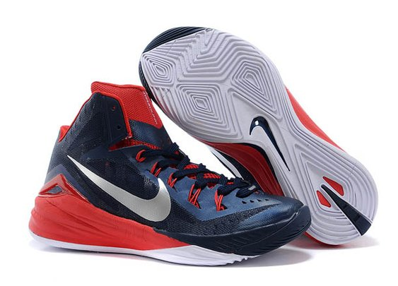 a585bb47de2f 2014 New Nike Zoom Hyperdunk Men Size Sports Shoes in Colorway Red and Dark  Blue