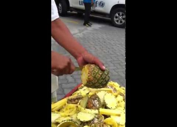 Take Notes: This Guy Can Peel a Pineapple