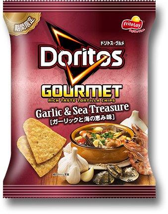 Doritos Gourmet Garlic & Sea Treasure Tortilla Chips