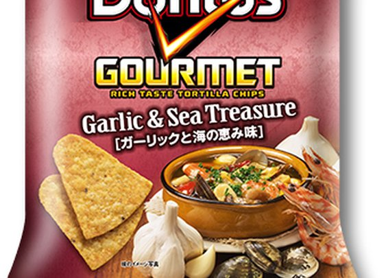 Doritos Gourmet Garlic & Sea Treasure Tortilla Chips