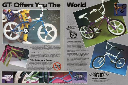 GT Bicycle Magazine Ad