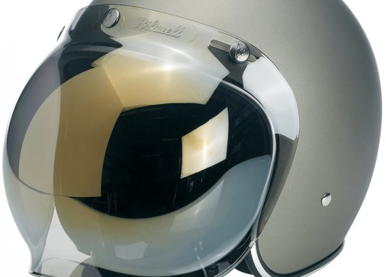 Biltwell Bonanza helmet w/ bubble Shield