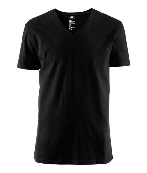 T-Shirt Black Stretch Cotton