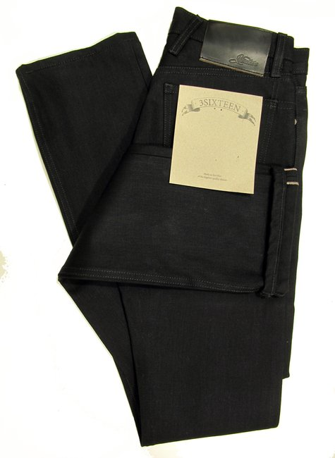 3SIXTEEN  Black Selvedge Jeans