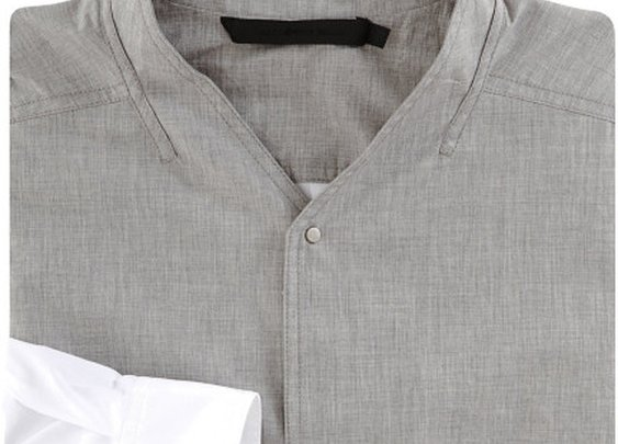 Alexander Wang Collarless Dress Shirt in Gray for Men (grey) | Lyst
