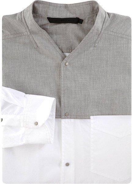 Alexander Wang Collarless Dress Shirt in Gray for Men (grey) | Lyst