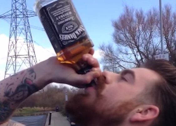 This Guy Downed A Bottle Of Jack Daniel's In 15 Seconds