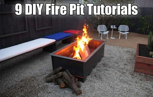 9 DIY Fire Pit Tutorials - SHTF, Emergency Preparedness, Survival Prepping, Homesteading