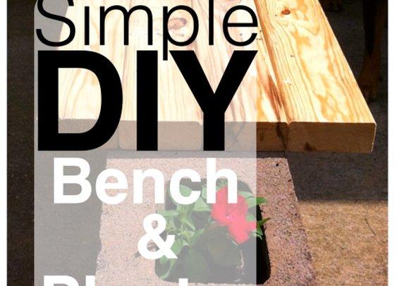 Simple Cheap Rustic DIY Bench & Planter