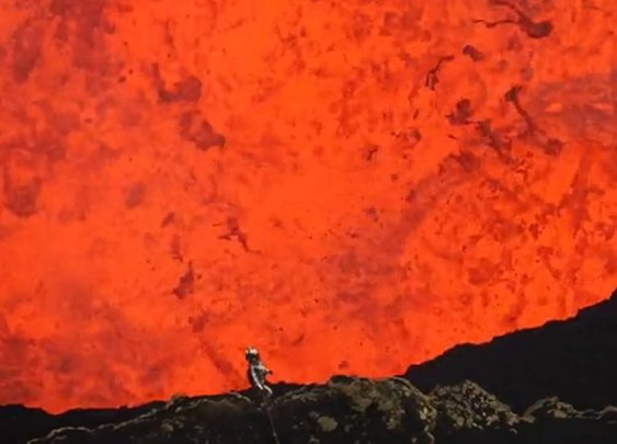 Diving into an Active Volcano with a GoPro