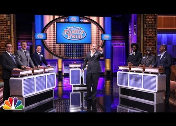 Tonight Show Family Feud with Steve Harvey and Jason Segel - YouTube