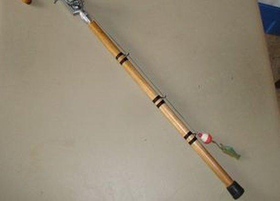 Fisherman's walking cane (Or, retirement gift)