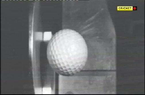 Slow Motion: Golf ball hitting steel. [VIDEO]