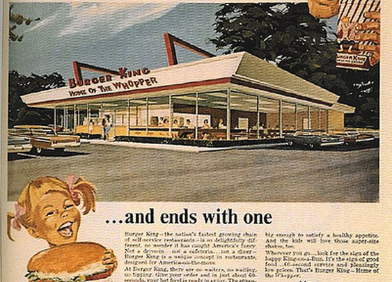 Vintage Burger King Ad