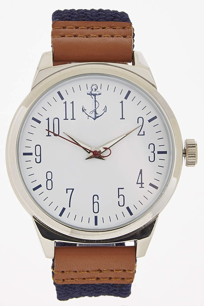 Exclusive: Navy Woven Anchor Watch - Breda - Watches : JackThreads