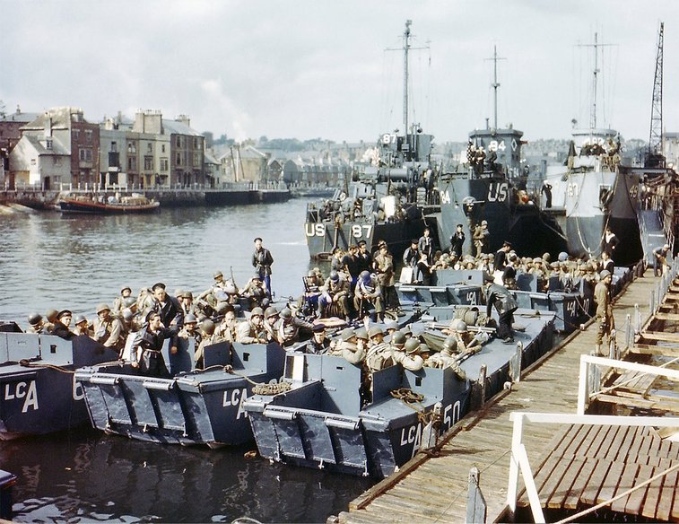 World War II Images and Present Day