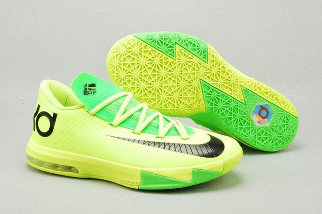 de2bea6ddda KD VI 6 Kevin Durant Basketball Shoes Neon Green Black Colorways ...