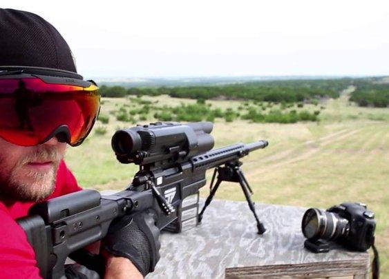 500 Yard No-Look Rifle Shot