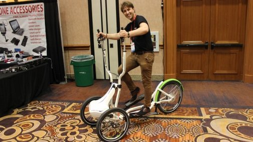 Freecross is made to simulate skiing ... on three wheels
