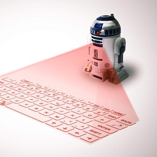 The R2-D2 Holographic Laser Keyboard - Supercompressor.com