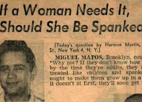Should A Woman Be Spanked