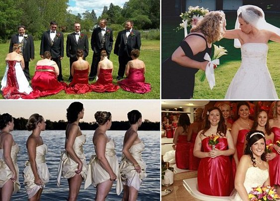 Weird weddings: A look at the most awkward bridesmaid photos of all time | Daily Mail Online