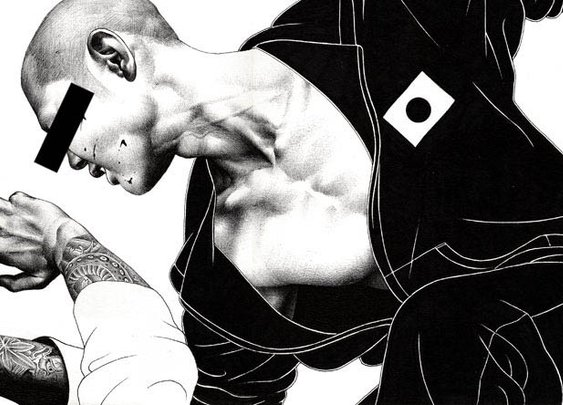 Ballpoint Pen Illustrations by Hakuchi | MASHKULTURE