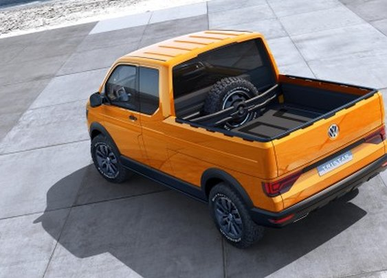VW's Tristar concept puts a mobile office inside a rugged Transporter pickup truck