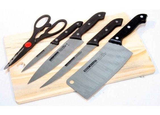 Kitchen Knife Set w/Cutting Board | Buy Agora