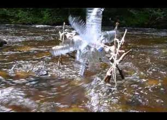 Water Wheel from Plastic Bottles