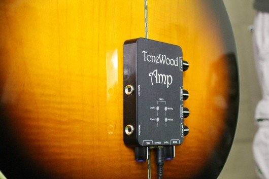 ToneWoodAmp pushes digital effects through an acoustic guitar's body