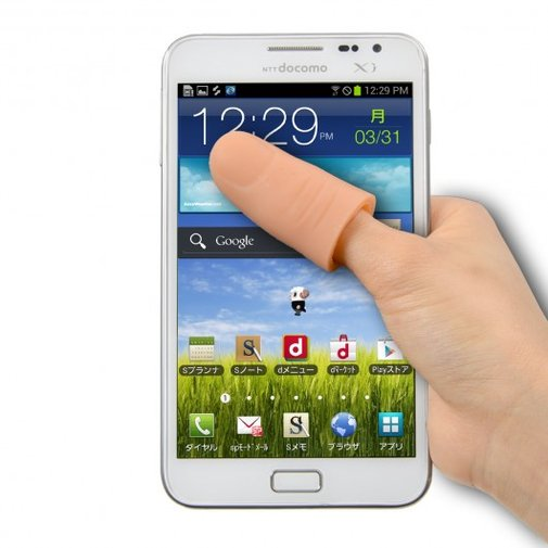 iPhone 6 Plus screen too big? Not with the Thanko Thumb Extender!