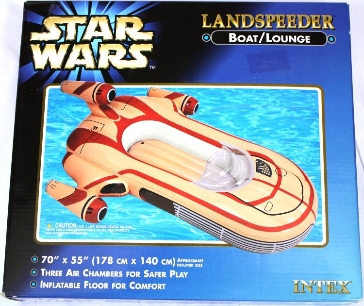 An Inflatable Pool Lounger That Looks Like a Landspeeder Vehicle From the 'Star Wars' Films