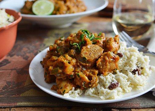 PALEO HACK: Creole Chicken with Coconut Cauliflower Rice   Andrew ZimmernAndrew Zimmern