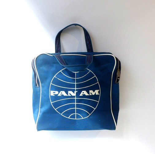 Vintage original 1960s Pan Am airline travel flight by evaelena