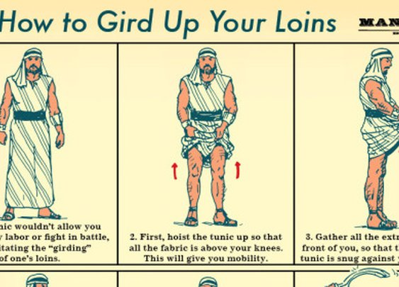 How to Gird Up Your Loins: An Illustrated Guide | The Art of Manliness