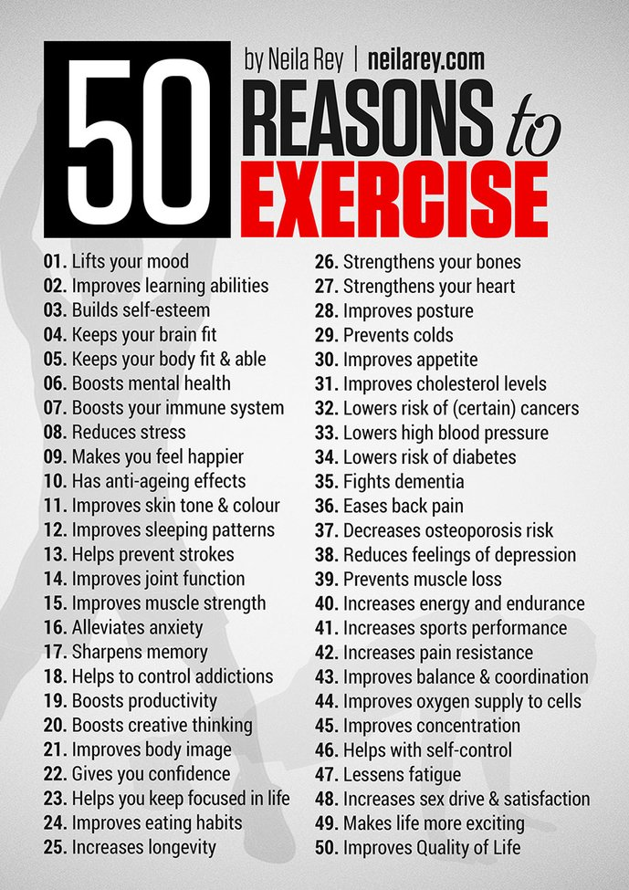 50 good reasons to exercise