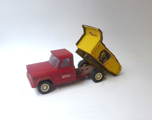 Vintage collectable 1960s metal Tonka Ford dump truck by evaelena