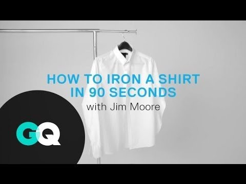 How to Iron a Shirt in 90 Seconds with Jim Moore