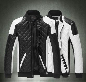 Motorcycle PU leather jacket.