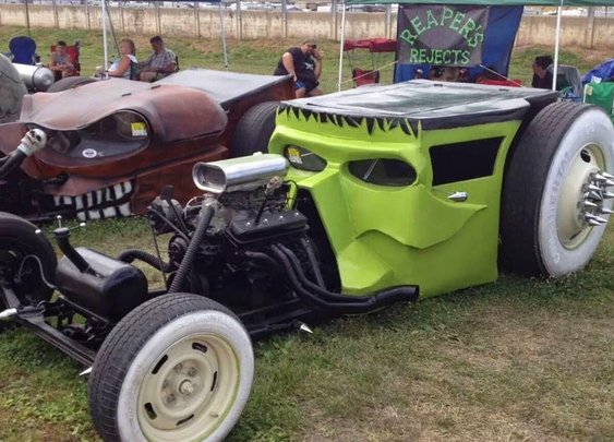 Rat rods ready for Halloween