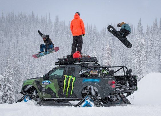 KEN BLOCK'S RAPTORTRAX SHREDFEST WITH ZAK HALE & ETHAN DEISS - YouTube